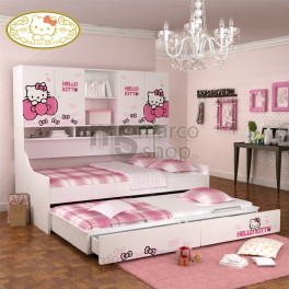 Pat copii Duo cu sertare Hello Kitty